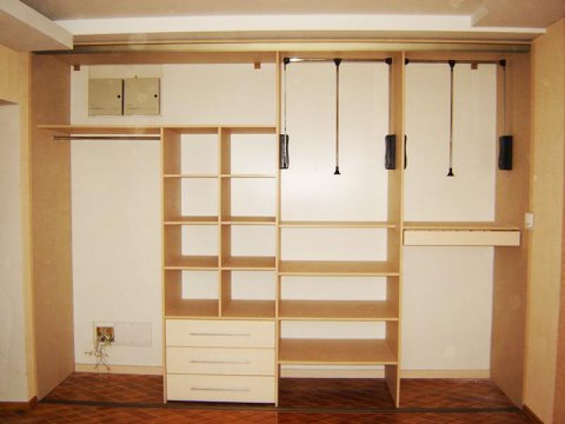 Встроенный шкаф купе в спальне своими руками фото