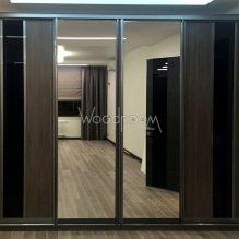 корпусный шкаф на заказ с зеркалами Мичуринский проспект