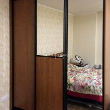Корпусный шкаф на заказ с зеркалом Семёновская набережная