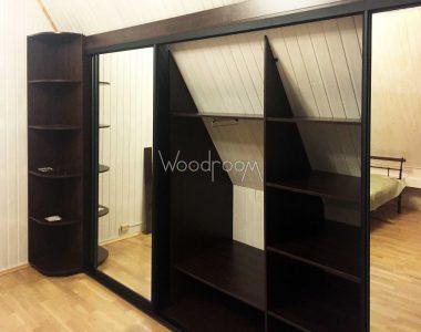 Шкаф купе на заказ с пескоструйным рисунком woodroom.