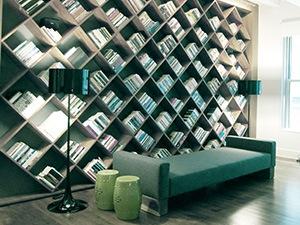 плка-шкаф в библиотеку во всю стену