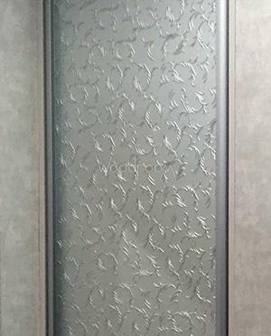 шкаф с декорированным стеклом (веточки)