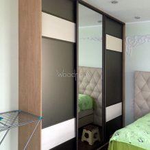 Встроенный шкаф купе на заказ в спальню Первомайское