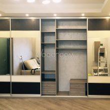 Встроенный шкаф с зеркалами на заказ г.Красногорск