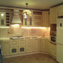 Кухня из ЛДСП, Карамышевская наб., 240000р. (без столешницы)