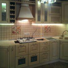 Угловая кухня, Карамышевская наб., 240000р. (без столешницы)