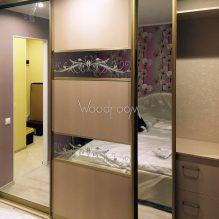 Встроенный шкаф на заказ с зеркалами ул.Малая Филёвская