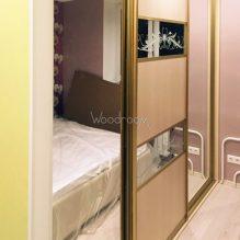 Встроенный шкаф купе с зеркалами ул.Малая Филёвская