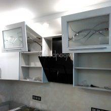 Кухня с рамочными фасадами, г.Видное ул.Берёзовая, 220000р. (без столешницы)