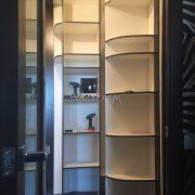 Встроенный радиусный шкаф на заказ Краснобогатырская