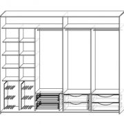 Шкаф купе на пр.Мичуринский. Схема наполнения