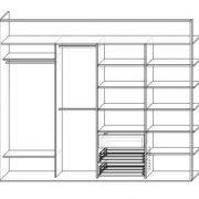 Шкаф в Александрово, Истринский район. Схема наполнения