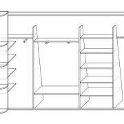 Шкаф купе в c.Белый Раст. Схема наполнения