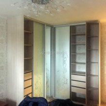 Встроенный угловой шкаф на заказ в спальню проезд Русанова