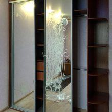Шкаф купе с пескоструйным рисунком Борисовские Пруды